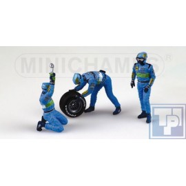 Figur, Benetton Tyrechange-Set, 1/43