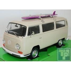 Volkswagen, VW, T2 Bus, mit Surfbrett, 1/24