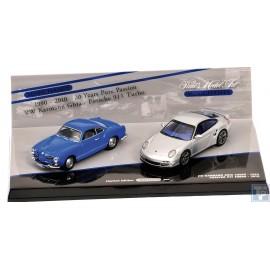 Porsche, 911 (997) Turbo und Volkswagen VW Kharman Ghia Coupe, 1/43