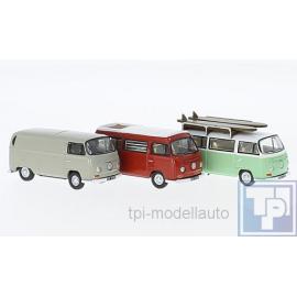 VW Volkswagen T2, Kasten, Camper und Bus, 1/43